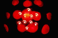 Abstact red light image.dots and shapes royalty free stock images