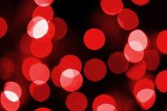 Red Lights Defocussed Stock Photo