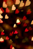 Red Lights Heart Background Stock Image
