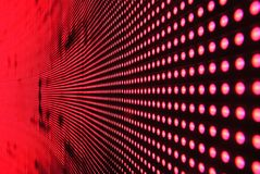 Red Lights in Line on Black Surface Stock Photos