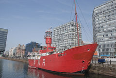 Red Lightship Royalty Free Stock Photo