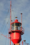 Red Lightship tower Royalty Free Stock Photos
