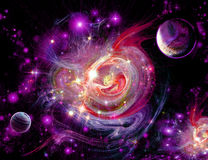Red-lilac nebula Stock Images