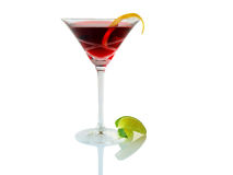 Red lime cocktail Stock Images