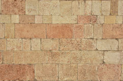 Red limestone from Verona medieval wall. Typical Verona red limestone wall Royalty Free Stock Photography