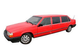 Red limousine Stock Photos