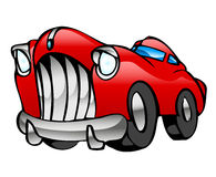Red Limousine. Fast Red Limousine, drawn in cartoon style Stock Image