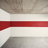 Red line. Empty wall with red line, can be used as background stock photo