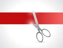 Red line banner cut illustration design Stock Photos