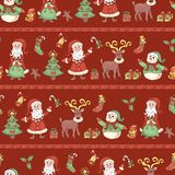 Red line holiday seamless pattern. Royalty Free Stock Photo
