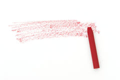 Red line from oil pastels for background Royalty Free Stock Image