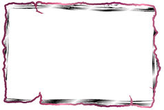 Red line photo frame Stock Photography