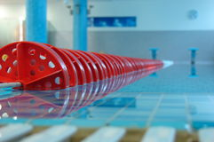 Red Line in swimming pool Stock Images