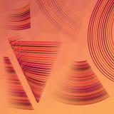 Red line symbol set. Colorful illustration with red line symbol set on polygonal background Vector Illustration