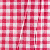 Red linen crumpled tablecloth. Stock Images