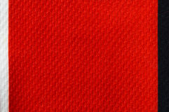 Red linen fabric pattern for texture background. Royalty Free Stock Image