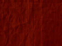 Red linen texture background. Natural Bright red Flax Fiber Linen Texture, Detailed Macro Closeup Royalty Free Stock Image