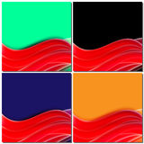Red lines, wave motion, Design abstract background for business Royalty Free Stock Image
