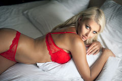 Red lingerie Royalty Free Stock Photos