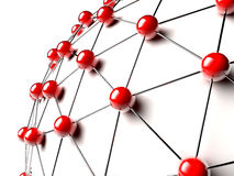 Red linked spheres Stock Images