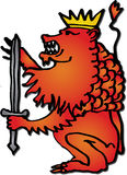 Red Lion Royalty Free Stock Photo
