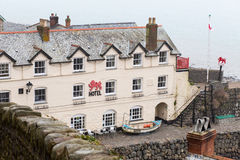 Red Lion Hotel, Clovelly, Devon stock photos
