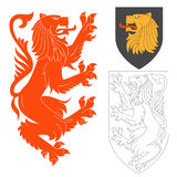 Red Lion Illustration Royalty Free Stock Images