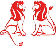 Red lions Royalty Free Stock Photography