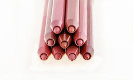 Red lip liners Stock Image