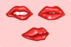 Red lips vector illustration
