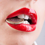 Red lips Royalty Free Stock Photos