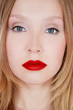 Red lips Stock Image