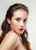 With red lips Stock Images