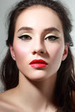 With red lips Stock Photography