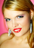 Red lips beauty Stock Image