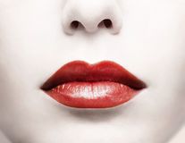 Red lips stock images