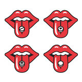 Red lips illustration Royalty Free Stock Image