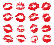Red lips imprint Royalty Free Stock Images