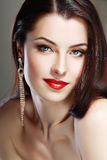 Red lips perfect make up Royalty Free Stock Photos