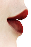 Red lips - side view Royalty Free Stock Image