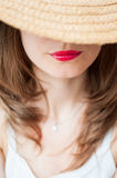 Red lips smile Royalty Free Stock Photography