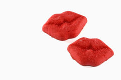 Red Lips Valentine Cookie Stock Photo