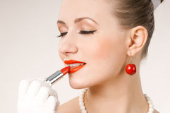 Red lipstick Stock Photo