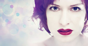Red lipstick. Royalty Free Stock Image
