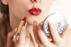 Red lipstick Stock Photos