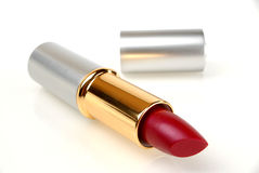 Red lipstick. Isolated open red lipstick Royalty Free Stock Photography