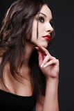 Red lipstick. Stock Photography