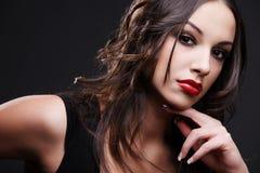 Red lipstick. Stock Photos
