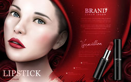 Red lipstick ad Stock Photo