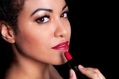 Red Lipstick Beauty Royalty Free Stock Image